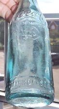 "RARE ICE BLUE STRAIGHT SIDE COCA COLA BOTTLE  "" ST. AUGUSTINE, FLORIDA  "" NICE """