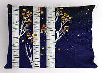 Birch Pillow Sham Decorative Pillowcase 3 Sizes for Bedroom Decor