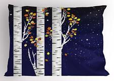 Birch Pillow Sham Decorative Pillowcase 3 Sizes for Bedroom Decor