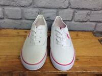 ONE EARTH LADIES UK 5 WHITE PINK CANVAS TRAINERS SUMMER SPRING