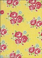 SIDEWALKS FLORAL FLANNEL fabric in Yellow for Riley Blake Designs - per 1/2 yard