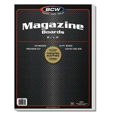 300 BCW MAGAZINE SIZE ACID FREE BACKING BOARDS AND RESEALABLE BAGS