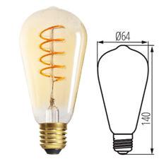 E27 LED Vintage Edison Spiral Filament Industrial Light Bulb Tint Amber Tubular