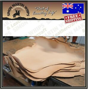 NATURAL Color VEG TANNED Kangaroo leather skin hide for plaiting whip making.