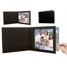 6x4 Black Textured Cardboard Event Photo Folders - Pack of 25