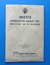 Stromberg AAV-267 Gasket Set # 382372 for a 1948-1949 60 70 80 Buick
