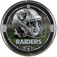 NFL Oakland Raiders Wanduhr Wall Clock Chrome Uhr Football