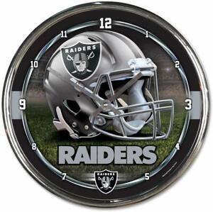 NFL Las Vegas Raiders Wall Clock Chrome Watch Football