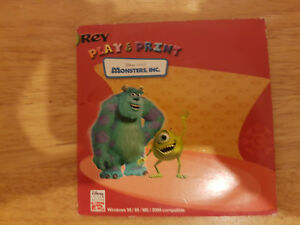 Rey Monsters Inc Play and Print CD Disc