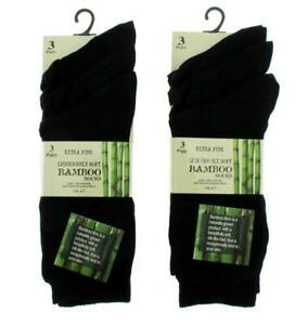 New Ladies/mens 6 Pairs Extra Fine Bamboo Super Soft Anti Bacterial Socks