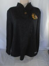 CCM NHL Women's Chicago Blackhawks gray pull over sweater/sweatshirt L NEW w/tag