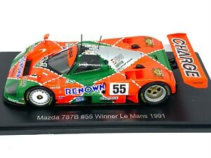 1:43 scale Spark Mazda 787B Le Mans Winning Sports Car - J Herbert 1991 Diecast