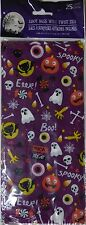 New Halloween Treat Bags Cello 25 Count Pack ~ EEK! Ghost & Cats ~ FREE SHIPPING