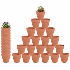 "32 Pcs 2.16"" Small Mini Clay Pots Terracotta Ceramic Pottery Planter Round NEW"
