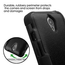 for ZTE Obsidian Z820 - FULL BLACK ARMOR HIGH IMPACT DEFENDER CASE PHONE COVER