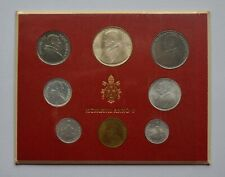 More details for 1967 vatican city pope paul vi mint set 8 coin set lire one silver