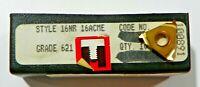 10 PIECES, RTW, 16NR 16ACME 621 CARBIDE INSERTS,   H517