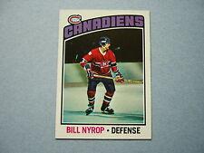 1976/77 TOPPS NHL HOCKEY CARD #188 BILL NYROP ROOKIE NM SHARP!! 76/77 TOPPS