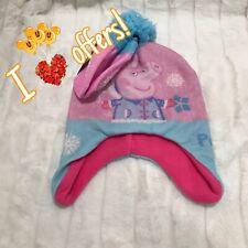 NWT Peppa Pig Toddler Girl OSFM Fall Winter Hat Mittens Set
