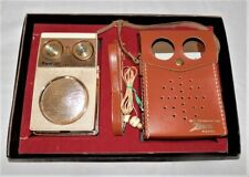 Vintage Zenith Royal 500 Long Distance Transistor Radio with case, ear phone