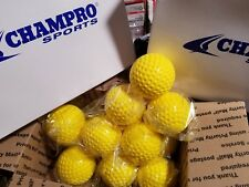 "1 Dozen (12) Champro 9"" (in) Gold Dimple Molded Batting Cage/Practice Baseballs"