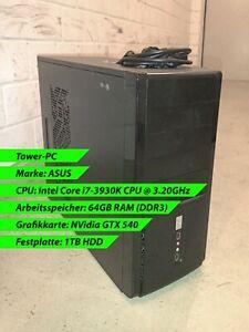 PC, Tower-PC, Asus, 64GB RAM, intel i7 CPU @3.20GHz, nvidia gtx 540 - gebraucht