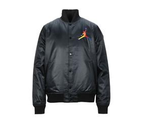 Air Jordan NEW Mens Black Polyester Satin Yellow Lining Jumpman Jacket Med Large