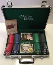 POKER RANGE Poker Chip Set Aluminium Case Denominated 7.5g Chips