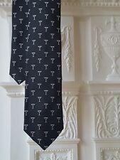 POLO RALPH LAUREN Cravatta di seta nero/bianco con motivo Occhiali Martini