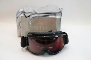 New Smith Grom Winter Snow Goggles Ski Snowboard Youth Medium Black ChromaPop