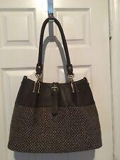 Womans Black Rivet Handbag