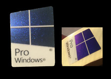 2x Windows 10 Pro Genuine Sticker Case Badge 16mmx22mm Blue Metallic USA Se