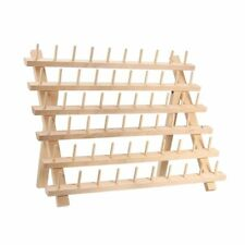60 Spool Wooden Thread Rack and Organizer for Sewing Quilting Embroidery M4K9