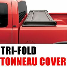 Lock Tri-Fold Soft Tonneau Cover For 2005-2011 Dodge Dakota 5.3Ft Short Bed Only