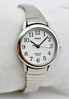 Ladies TIMEX Classic Easy Reader, Silver Tone, Expansion Band, Indiglo, Quartz