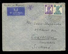 POLAND WW2 FPO 117 INDIA 1943 to COATBRIDGE SCOTLAND