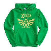 Zelda HOODIE Unisex Adult Youth II Hooded Pullover Golden Triforce logo S-5XL