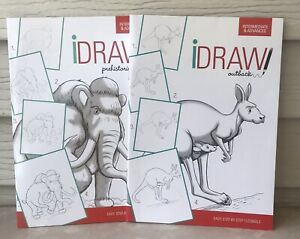 New (2) I Draw Step By Step Drawing Tutorial Instruction Intermediate Advanced