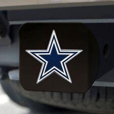 Dallas Cowboys Heavy Duty 3-D Color Emblem Black Chrome Metal Hitch Cover