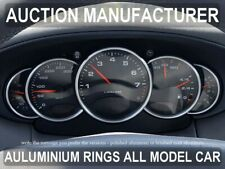 PORSCHE  911 996  1998-2005  POLISHED or BRUSHED  ALUMINIUM CHROME DIAL RINGS x5