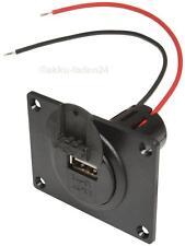 12v-24v a USB Enchufe empotrable con placa frontal, vehículo, MOTO, 3a