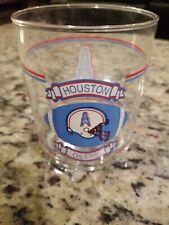 HOUSTON OILERS GLASS - SHELL MILES AHEAD PROMO HELMET OIL RIG FOOTBALL NFL