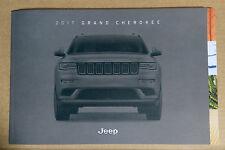 2017 Jeep Grand Cherokee Original Sales Brochure Catalog NEW