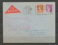 1938 Lettre à 65c Obl LYON-GARE AVION Inauguration ligne Paris-Nice X3804