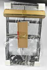 "Linon 17"" L x 31"" H x 10"" D -inch Distressed Metal Wall Shelve Storage, Black"