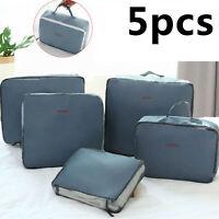 5pcs cubes d'emballage bagage organisateur valise de compression de voyage