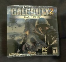 Call of Duty 2 Game Demo PC CD-ROM by Activision New Sealed