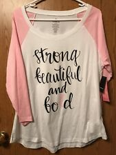 Torrid Plus Size Breast Cancer Awareness Raglan Size 00 New With Tags