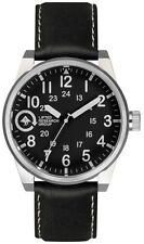 LRG Lifted Field & Research Group Silver/Black 40mm Steel Watch FIE-01011010 NIB