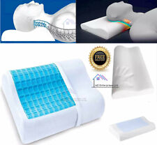 Cooling Gel Memory Foam Pillow Head Back Spine Neck Support Air Cool Contour Uk